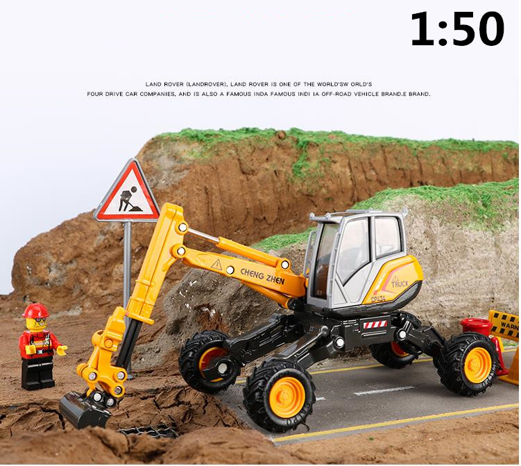 high simulation alloy engineering vehicle model,1: 50 scale alloy spider excavator, metal castings, toy vehicles,free shipping