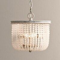 Retro amerykański kryształ sypialnia wisiorek światła dla jadalnia restauracji badanie sypialnia pokój dzienny Hotel LED E14 żarówki w Żyrandole od Lampy i oświetlenie na