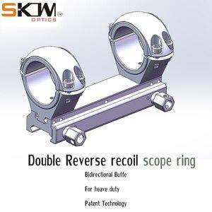 SKWGEAR doble dirección retroceso reverso AR15 M4 resistente AR Weaver 30mm alcance potente anillos CNC Scope Mount Picatinny rail