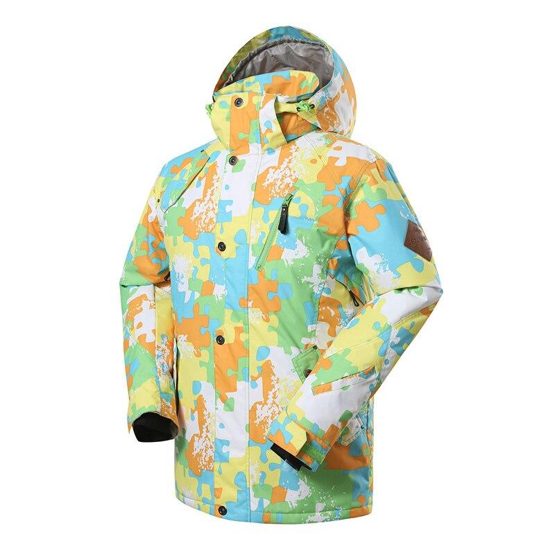 2018 haute expérience hommes veste de Ski Snowboard veste de plein air Sport porter imperméable coupe-vent Ski équitation mâle vêtements manteau