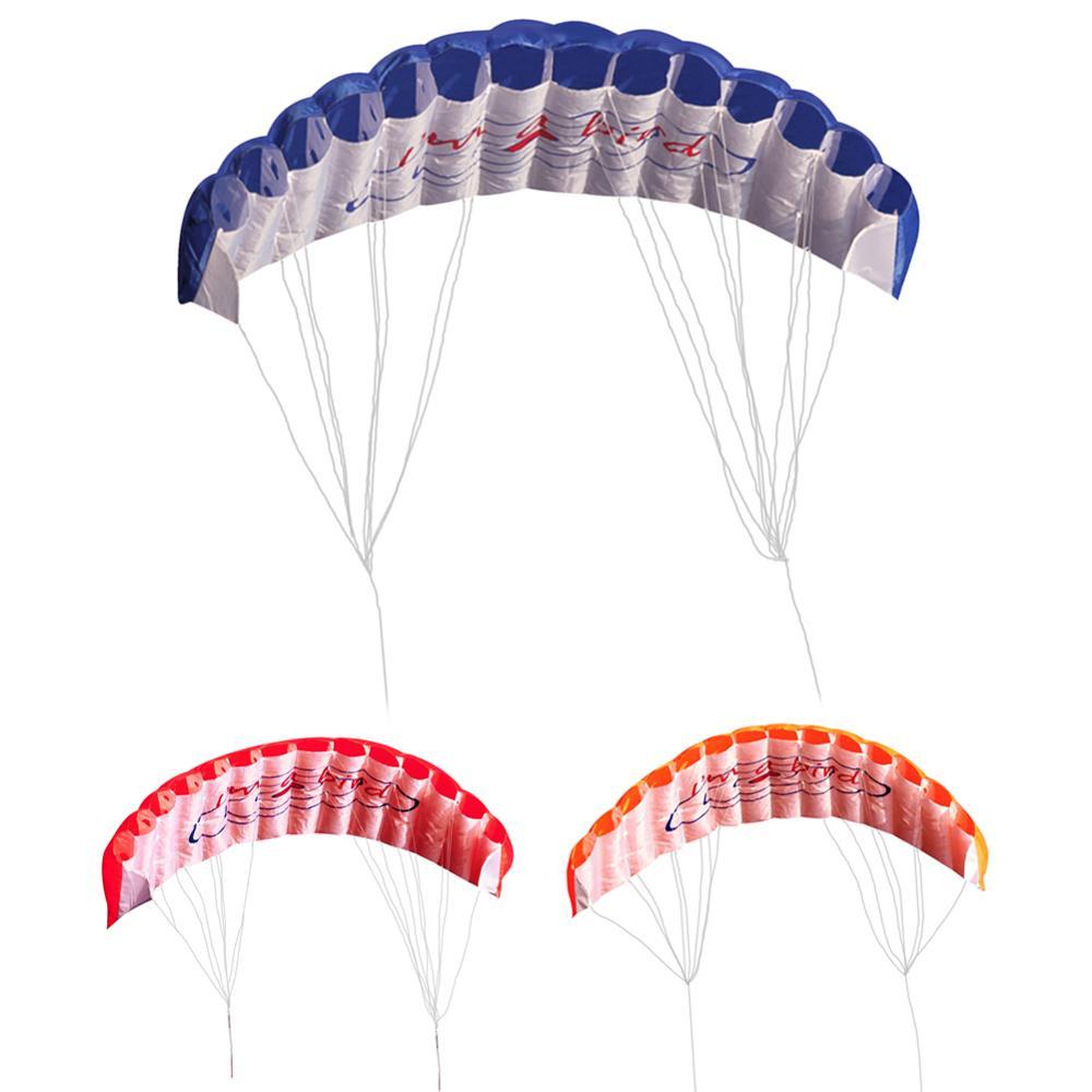 1.4M Dual Line Parafoil Kite With Flying Tools Power Braid Sailing Kitesurf Sports Flying Outdoor Toys Beach Kite Outdoor Fun