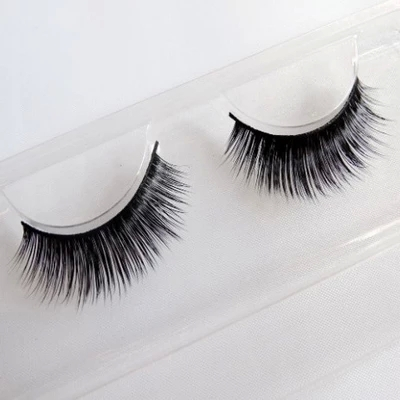2015 New 3D Fashion Bushy Cross Natural False Eyelashes Mink hair Handmade Eye Lashes Free shipping