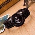 Moda Folha de grama relógio Marca de esportes dos homens das mulheres da geléia de silicone assistir relogio feminino 2017 Nova quartz relógio de pulso reloj hombre