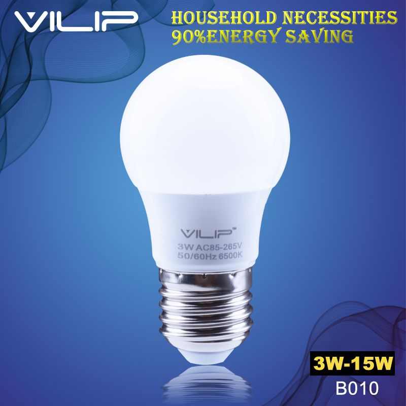 VILIP LED Bulb E27 3W 5W 7W 9W 12W 15 Watt 220V High Brightness Home Lighting Lamp Cold Warm White SMD 2835 Light T