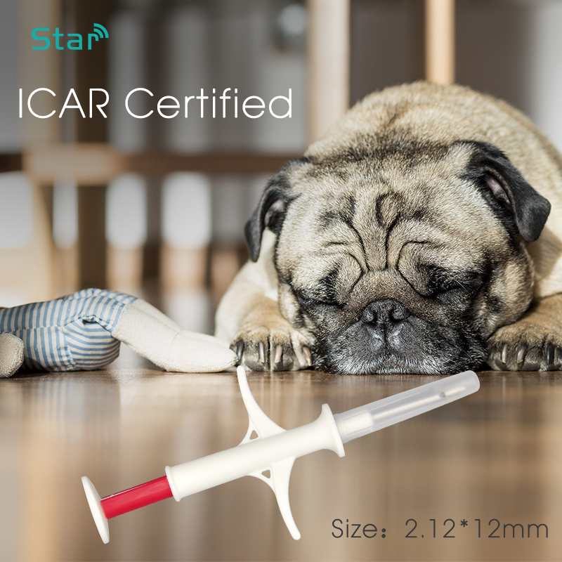 (100pcs) Free Shipping 2.12*12mm Rfid 134.2KHz Microchips Animal Glass Tube Tags For Pets Dog / Cat / Pets / Animals With Label