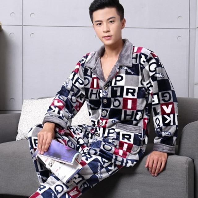 2016 New Coming Men Robe Sets Autumn Winter Warm Robe Set