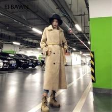 Casacos de pele de ovelha real das mulheres casacos de pele de ovelha shearling casaco longo grosso quente inverno jaqueta feminina couro genuíno outerwear