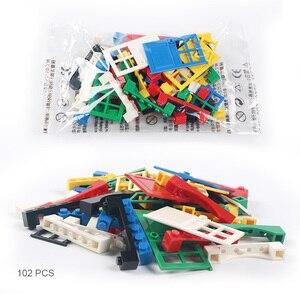 Image 3 - 102 個ドア & 窓レンガ diy 家ビルディングブロックレンガのおもちゃ市建築家子供のための教育レゴと互換性