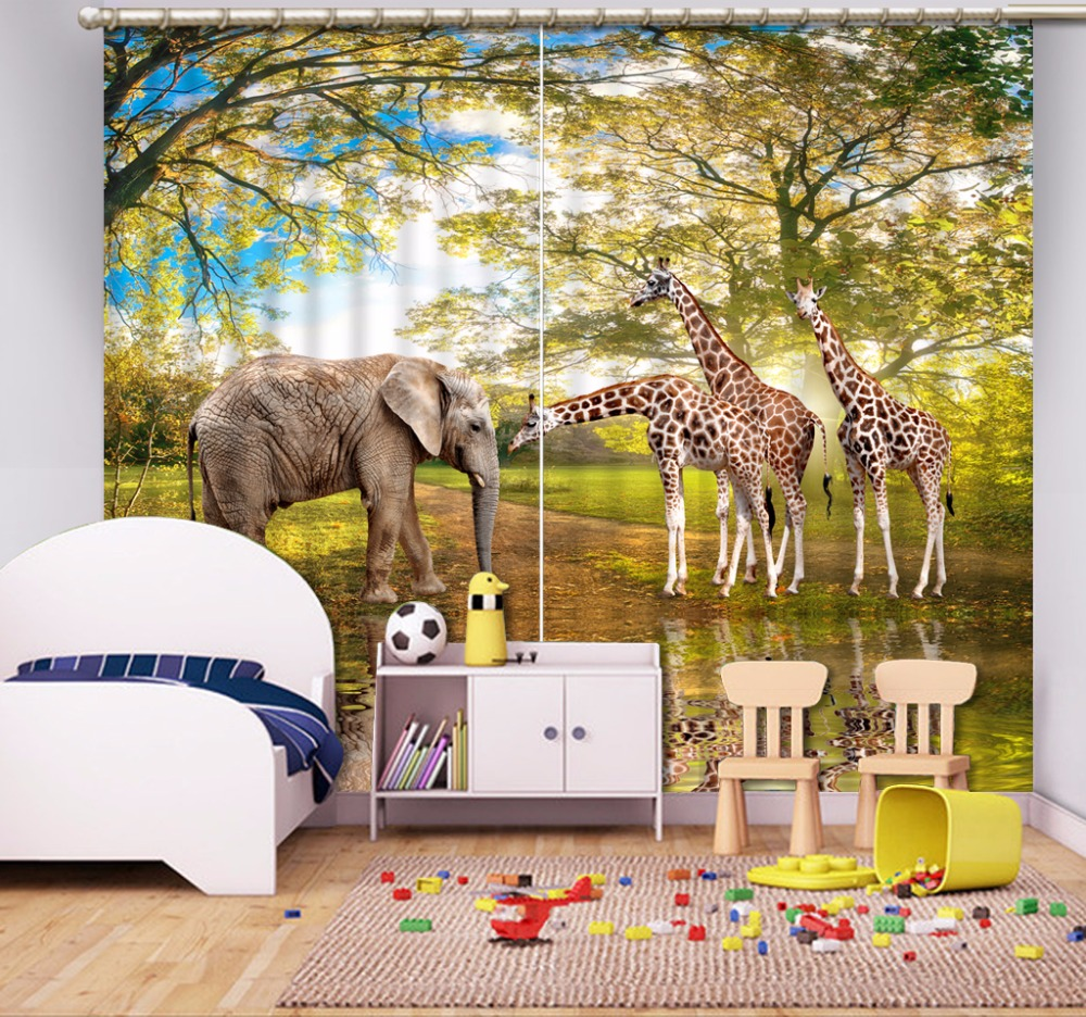 Photo Custom 3D Curtain zoo Curtains For Living Room Bedroom Blackout Window Curtains Home Kitchen Drapes Photo Custom 3D Curtain zoo Curtains For Living Room Bedroom Blackout Window Curtains Home Kitchen Drapes