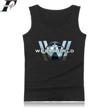 Luckyfridayf westworld Мода хлопок майка Для мужчин рубашка без рукавов Костюмы и Запад мир плюс Размеры Лето Вязаные Жилеты для женщин xxs 4xl