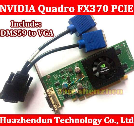 Original High Quality NVIDIA Quadro FX370 PCI-E with DMS-59 Cable FX 370 griaphic card 1year warranty original high quality nvidia quadro fx370 pci e with dms 59 cable fx 370 3d griaphic card 1year warranty