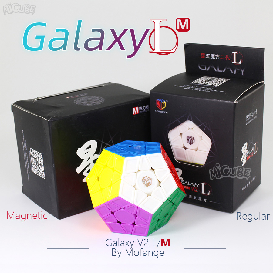 Mofangge X-Man Galaxy V2 L M Cube Megaminxeds Magic Cubes  Magnetic &Regular Speed Puzzle Professional 12 Sides Cubo Magico Qiyi