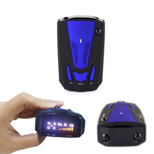 Viecar New arrive Car Radar Detector 360 Degree 16 Band Scanning LED Display Auto Detectors English/ Russian Voice Alert Warning