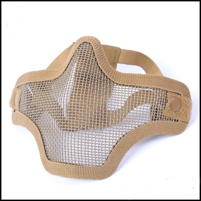 Al aire libre suministros de autodefensa campo campanas de alambre de doble cara media cara máscaras protectoras deportes