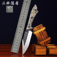 Handmade forged 60 HRC 8CR15MOV steel Straight fixed knife hunting knives Outdoor High hardness camping knife Survival knives