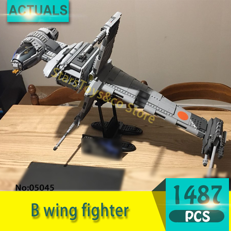 05045 1487Pcs B wing fighter Model Building Blocks Set  Bricks toys For Children Gift 10227 Star Series Wars 2015 high quality spaceship building blocks compatible with lego star war ship fighter scale model bricks toys christmas gift