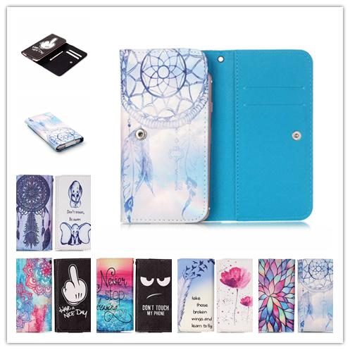 Phone cases Cartoon Flower PU Leather slot wallet pouch case skin cover Bag With Card Wallet For Micromax YU Yuphoria