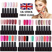 UK shipping 10ml*6PCS Polish Nail Gel Polish For Gel Cuticle Oil All For Nails Gel Nail Polish Top Coat All For Nails#S209