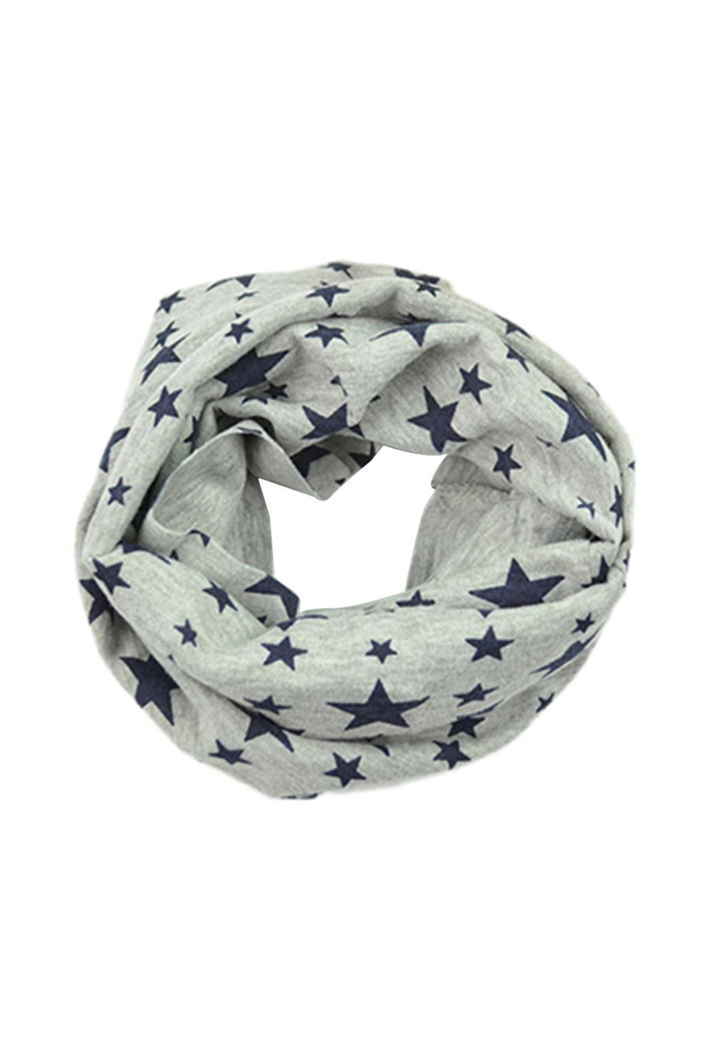 LHLL!Unisex Babies Loop S Five-pointed Star Knitted S Winter Shawl Snood Neck Warmer Gray