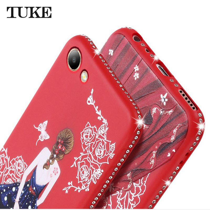 the latest dc217 67843 US $1.54 5% OFF|Case For Vivo Y53 Phone Casing Luxury Beauty Girl  Rhinestone Soft Silicone TPU Case For Vivo Y53 Back Cover Cases-in Fitted  Cases from ...