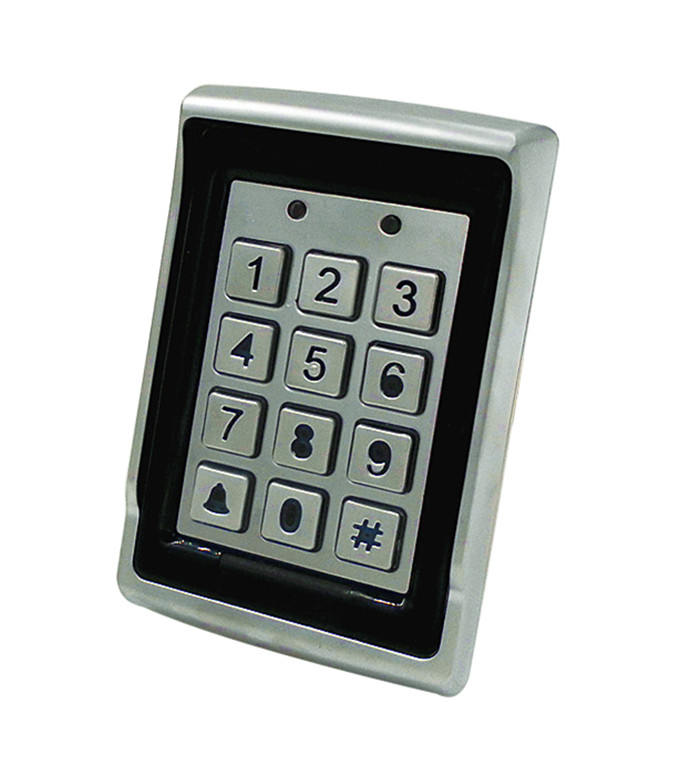 Waterproof Metal Shell Access Control Keypad EM Compatible Card Support With Rain Cover