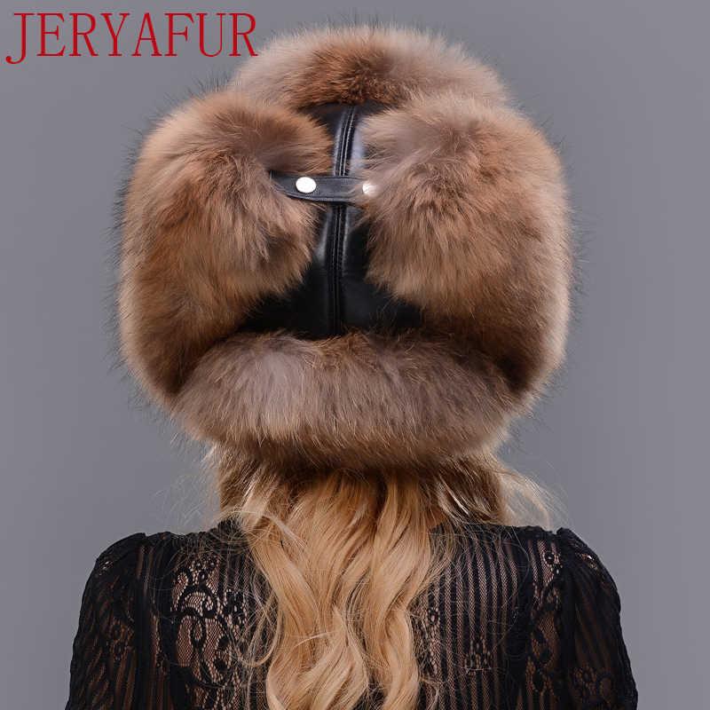 Russische Leifeng cap beschermt oren mannen en vrouwen kan hebben hoed wasbeer bont zilveren vos bont schapenvacht hoed top winter lady