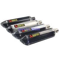 Universal Length 570mm Inlet 51mm Motorcycle Motorbike Scooter Akrapovic Exhaust Muffler Pipe Escape With DB Killer