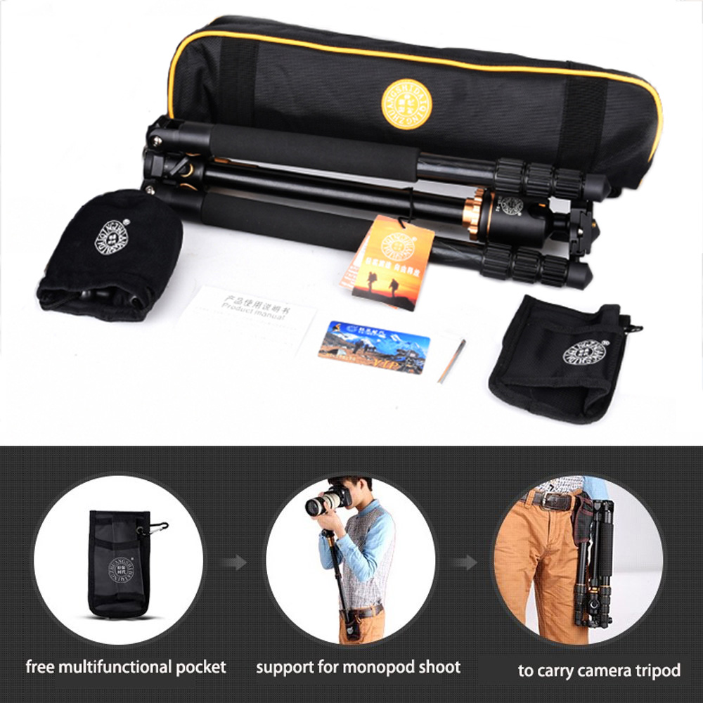 Cadiso Q999H Professionnel Vidéo trépied de caméra 61 Pouces Portable Compact Voyage Horizontal Trépied avec Rotule pour Appareil Photo - 6