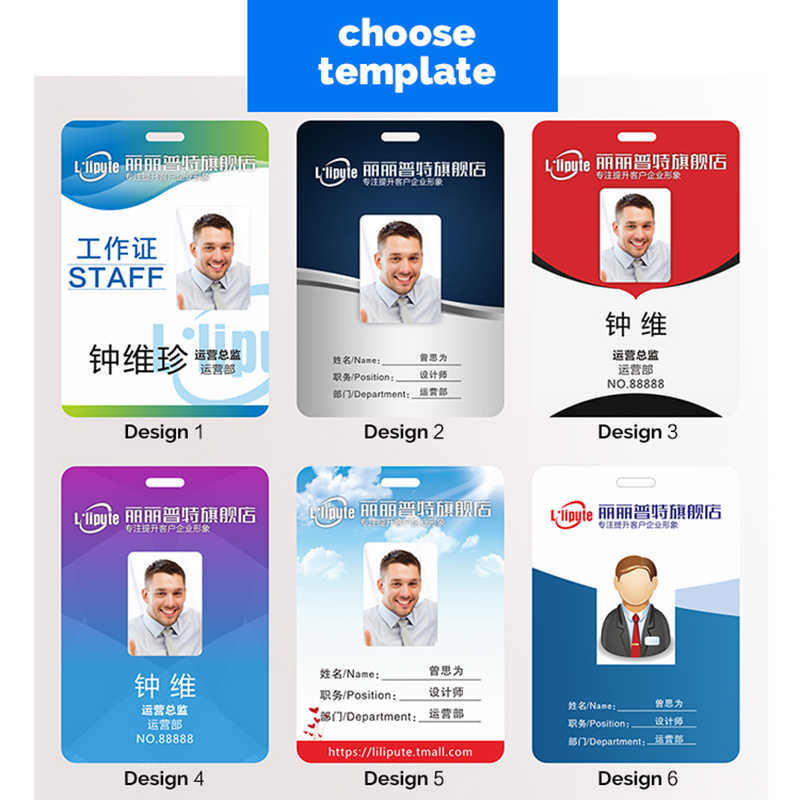 1pc Personalized Business Pvc Id Cards Stuff Company Plastic Card With 1 Or 2 Sides Printing
