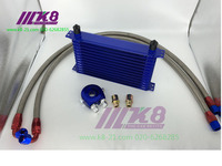 RACING TYPE: Japanese 13 Row AN-10AN Universal A complete set of Engine /Transmission Oil Cooler Kit +Filter Adapter Hose End