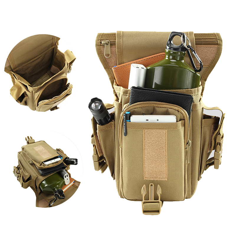 900D Outdoor Tactical Waist Pockets Backpack Military Leg Belt Bag Hunting Hiking  Fishing Waist Leg Bag Tool Pockets Wholesale