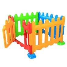 Складной Детей Пластик забор ребенок игры ограждение играть ползать забор безопасности одежда для малышей квадратный манежи с дверью От 6 месяцев до 3 лет