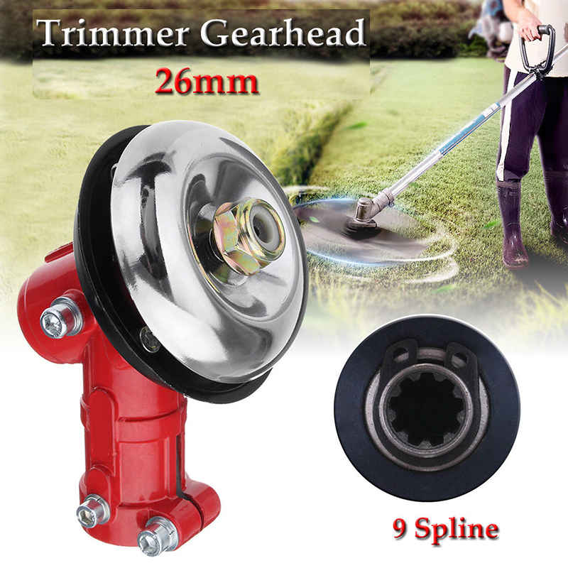 26mm 9 Spline Gearhead Gearbox for Trimmer Strimmer Brush Cutter Lawnmower Tool lawnmower blade