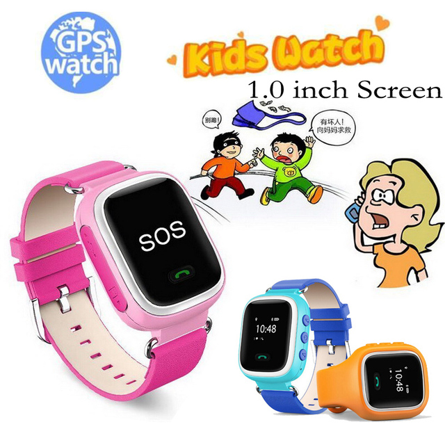 Kids GPS Smart Watch Wristwatch SOS Call Location Finder Locator Device Tracker for Baby Safe Anti Lost Monitor Gift 1.0inch Q60