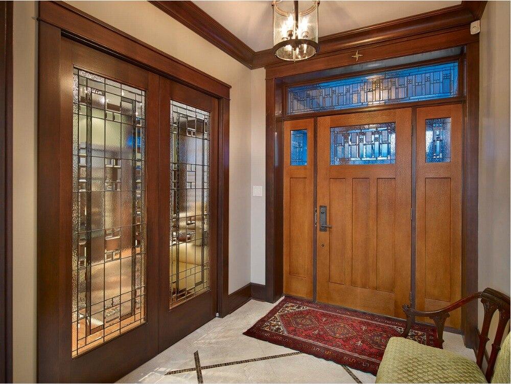 2017 New Style 2-panel Highly Durable Solid Wood Entry Door Paint Grade Interior Wooden Door Entry Doors ID1606029