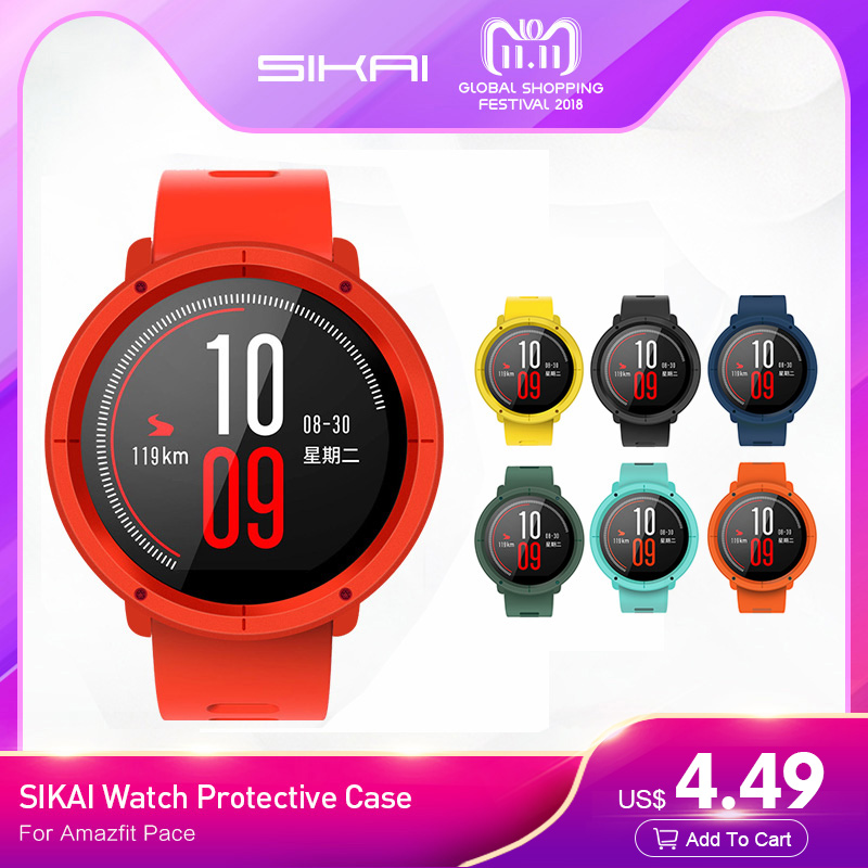 SIKAI Watch Case For HUAMI AMAZFIT Pace Protective Movement Case For Huami AMAZFIT Pace Smart Sport Watch Accessories PC Case sikai 22mm soft silicone watch band with protective case for huami amazfit pace bracelet case smartwatch band wristband straps