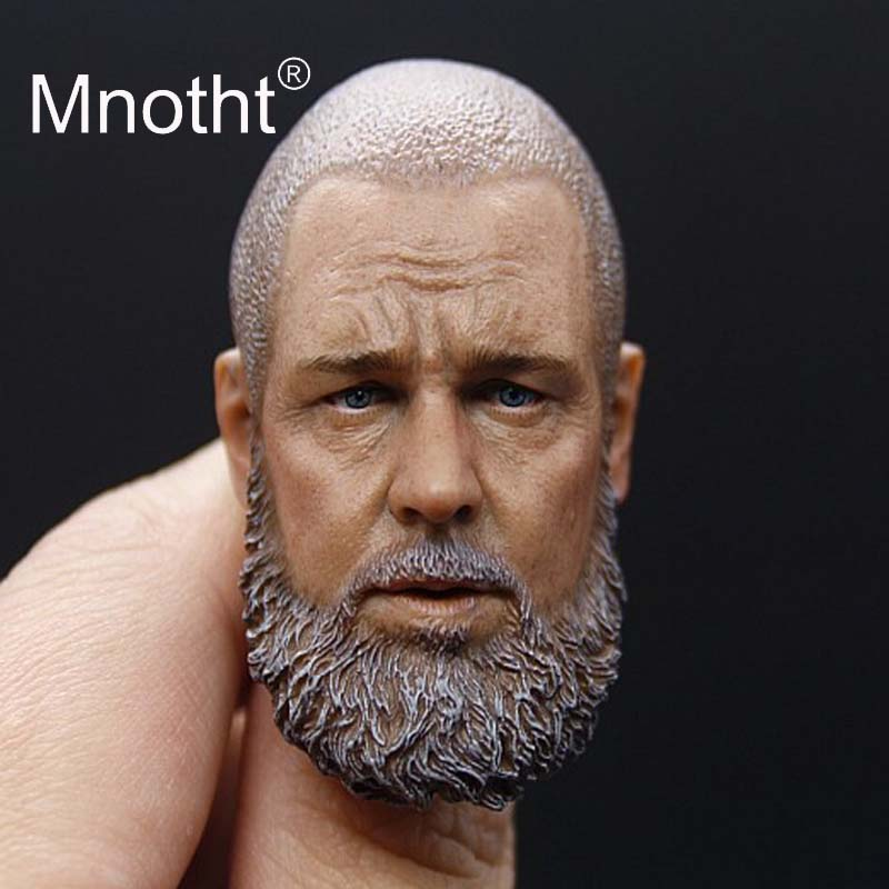 цены на Russell Ira Crowe Soldier 1:6 Male Soldier Head Sculpt Ark Seals for Action Toy Figure Model Collection Film Star Carving Mnotht