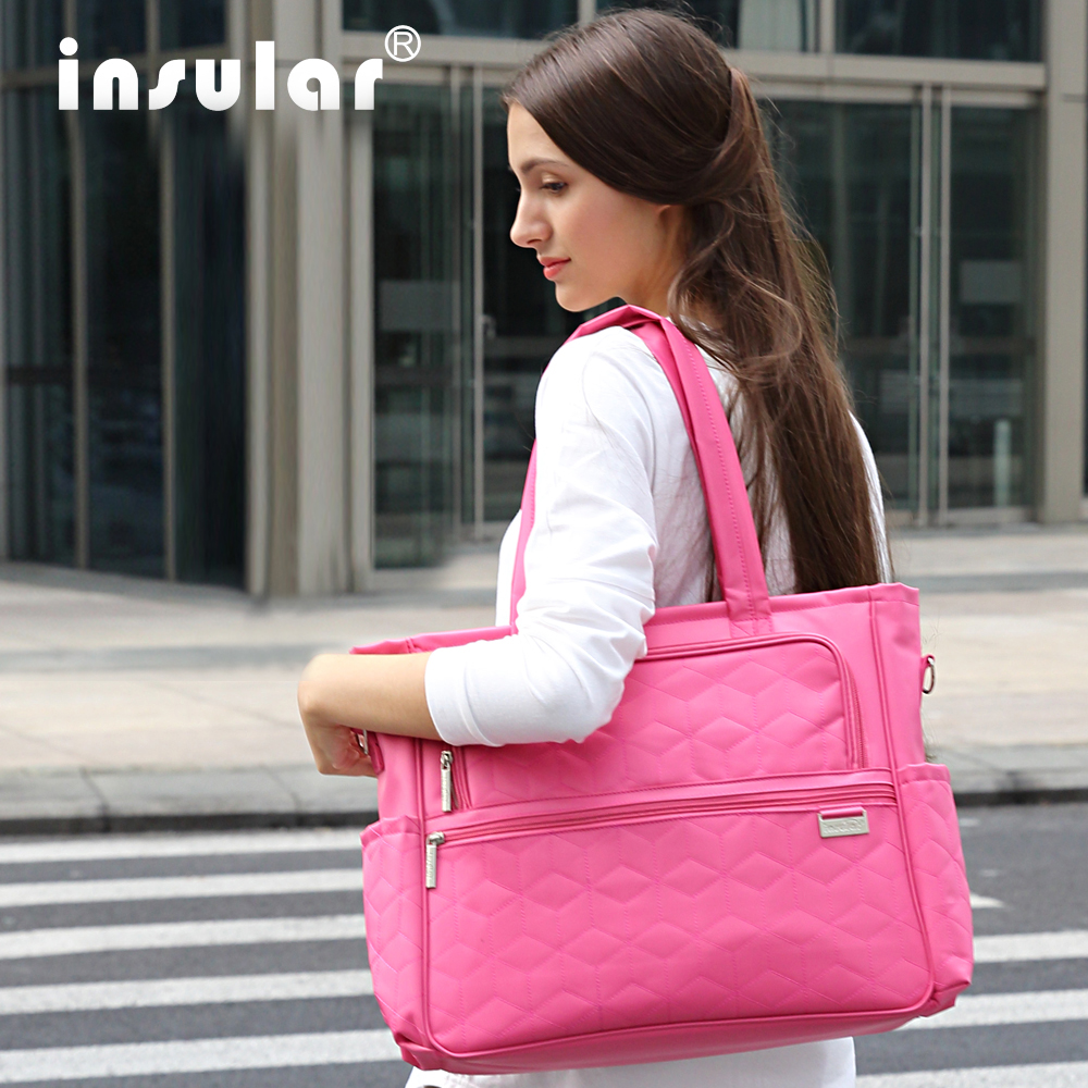 New Style Shipping Free 100 Nylon Fashion Baby Diaper Bags Nappy Bags Mommy Bag Multifunctional Changing