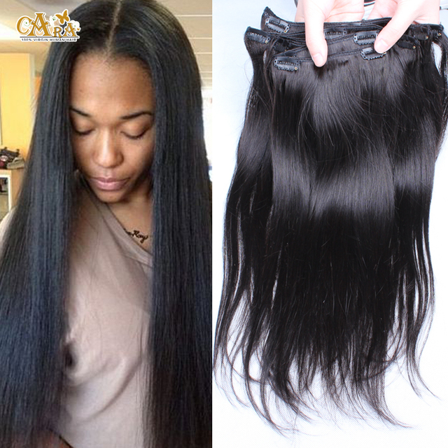 6a African American Clip In Human Hair Extensions 10 28 Malaysian