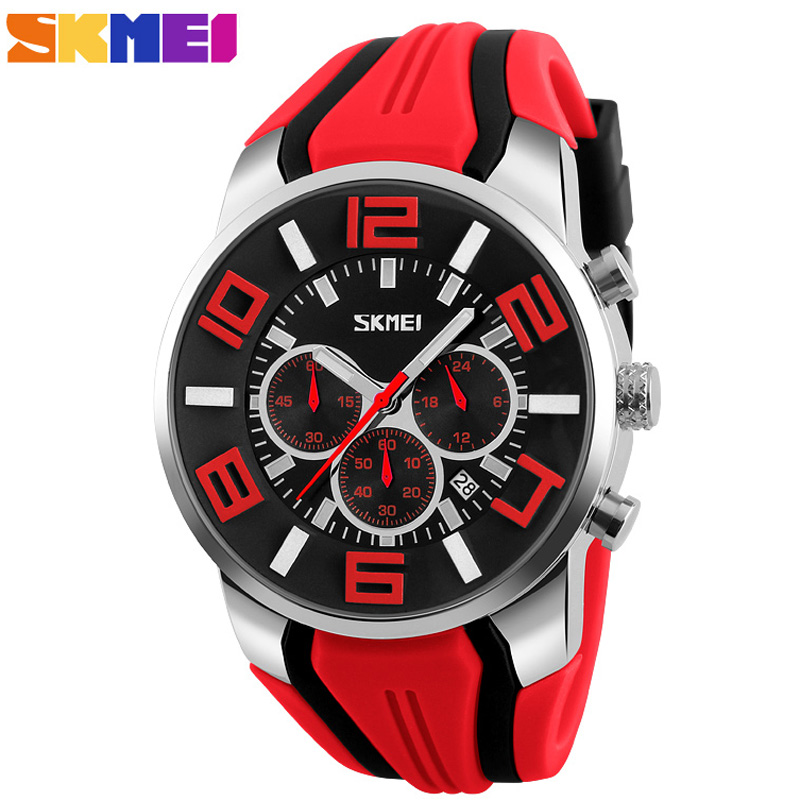 Mens Watches Fashion Casual Quartz Watch Men Waterproof Stopwatch Sport Wristwatches Relogio Masculino Top Brand Luxury SKMEI