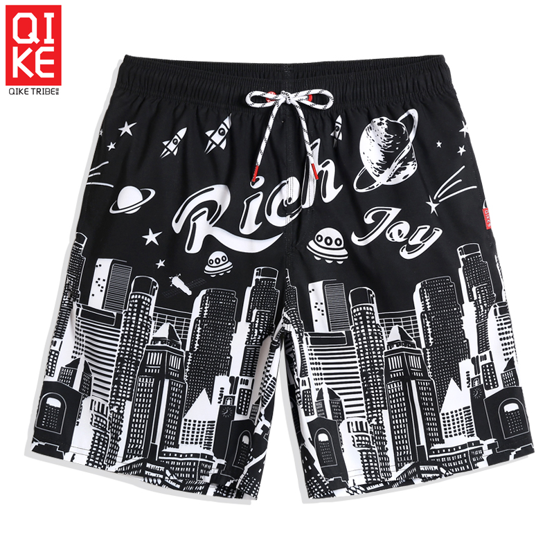 Board     shorts   summer Men's bathing suit quick dry surfing swimsuit liner beach   shorts   joggers hawaiian briefs loose trunks