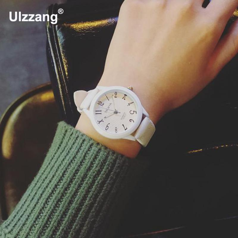 Cute Fashion White Black Pink Leather Quartz Wristwatches Wrist Watch for Women Girls Students Small Dial брюки женские billabong essential pant 2017 mauvewood xs
