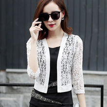 New 2018 Plus Size Clothing 3XL Casual Hollow Ladies Summer Cardigan Coat  Women Black Crochet Sexy Female White Lace Cardigan 9d275b7e2f13