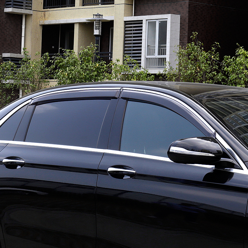 lsrtw2017 Acrylic car window rain shield for <font><b>mercedes</b></font> benz c-class c180 c200 <font><b>c300</b></font> c250 2014 2015 2016 2017 2018 2019 w205 image