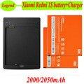 1 lote = 2 unids Xiaomi Redmi 1 S batería + 1 unid del muelle del cargador Original BM41 2000 mAh reemplazo Li batería Xiaomi Hongmi Redmi arroz rojo 1 S