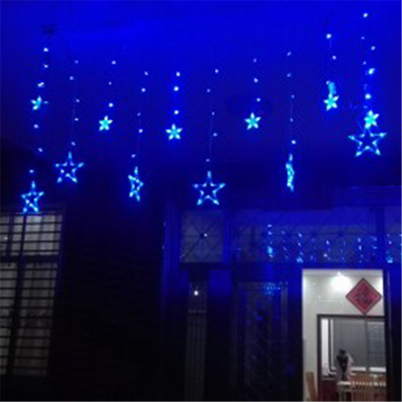 Fairy Led Flashing Starry Curtain String Light Bedroom Home Outdoor Star Lamp Wedding Christmas Garland Decoration Luminaria In From Lights