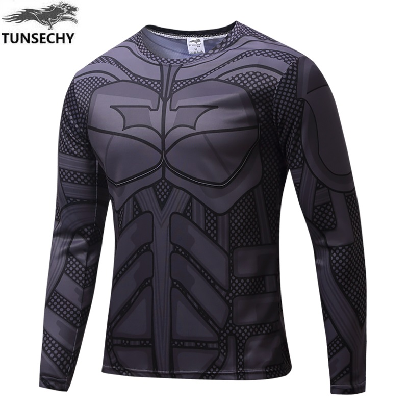 2017 Captain America 3D Printed T-shirts Men Marvel Avengers iron man War Fitness Male Crossfit T-shirts Free transportation