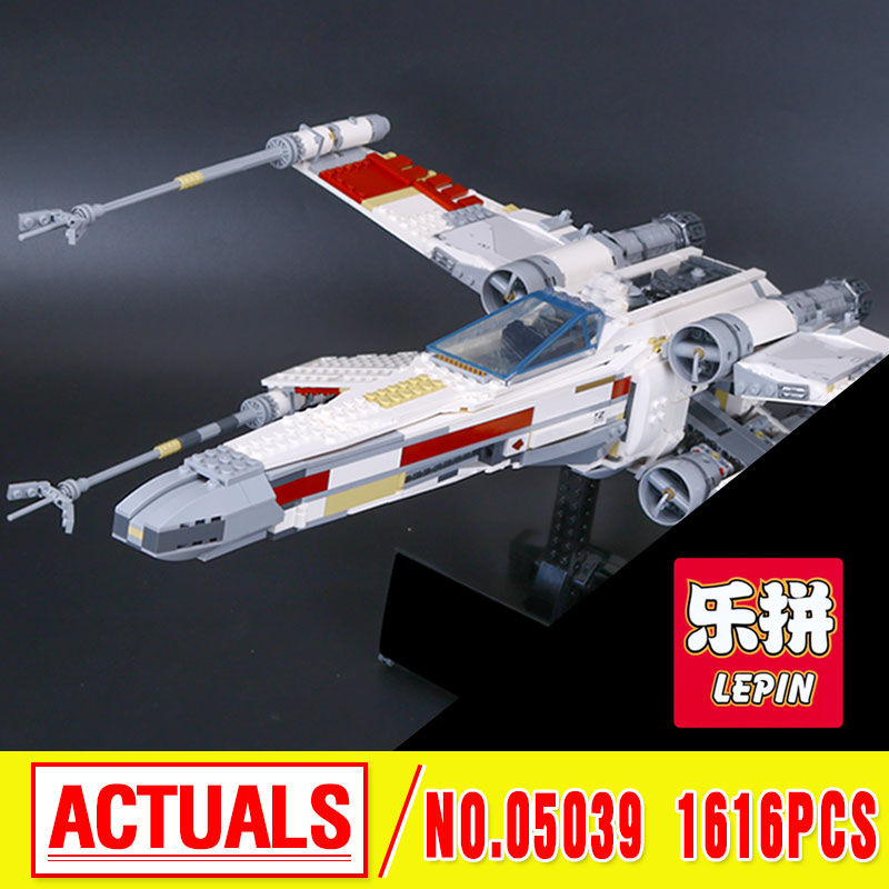 LEPIN 05039 Star series The red five X-starfighter Wing Model Building Blocks classic Compatible 10240 Toys for children   wars lepin 05039 star wars red five x wing starfighter figure blocks construction building bricks toys for children compatible legoe