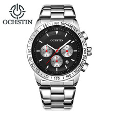 купить 2018 OCHSTIN Men's Fashion Sport Watches Men Quartz Analog Date Clock Man Full Steel Military Waterproof Watch Relogio Masculino по цене 1367.1 рублей