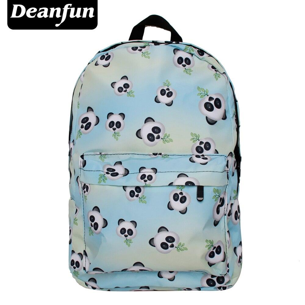 Deanfun 3D Printed Bamboo Panda Backpacks Women Emoji Fashion Style Cute for Girls SB 14